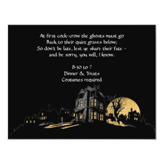 Haunted House on a Hill Halloween Party Invitation