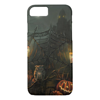 Haunted House Owl Halloween Phone Case