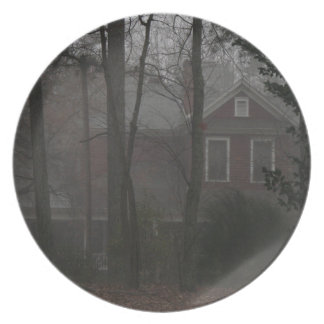 haunted house plates