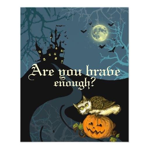 Haunted House pumpkin owl creepy trees Flyer