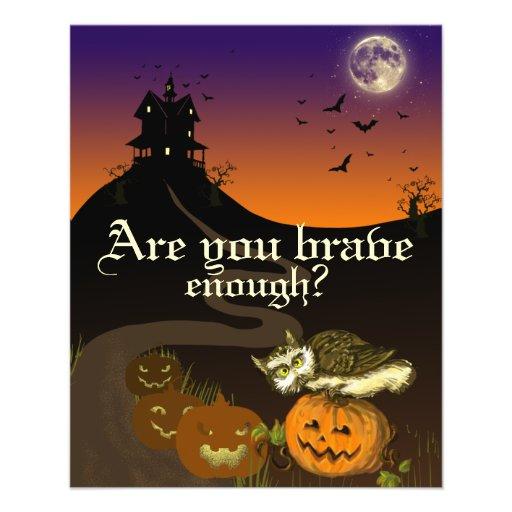 Haunted House pumpkin owl Flyer