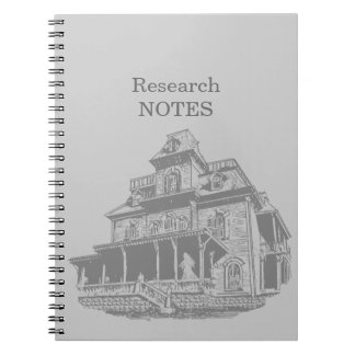 Haunted House Sketch Spiral Notebook