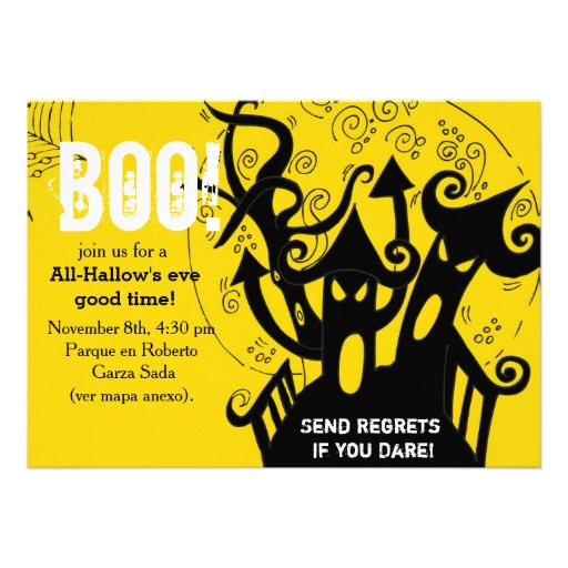 Haunted house spooky halloween Party Invite