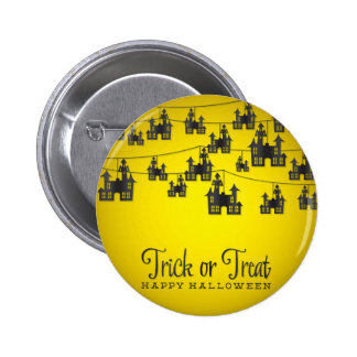 Haunted house string 2 inch round button