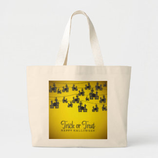 Haunted house string large tote bag