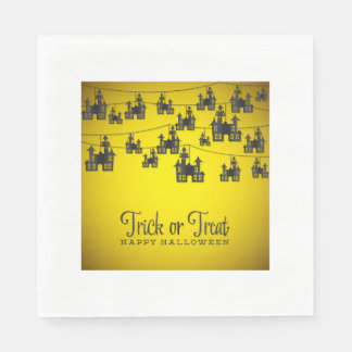 Haunted house string paper napkin