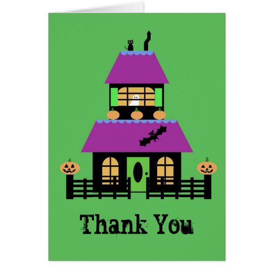 Haunted House Thank You notecard