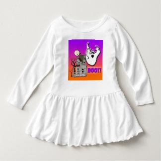 Haunted house toddler ruffle dress. tshirt