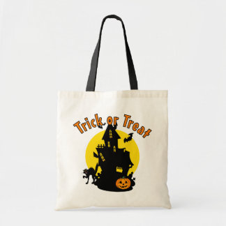 Haunted House Trick or Treat Halloween Bag