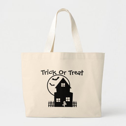 Haunted House Trick Or Treat Tote Bag