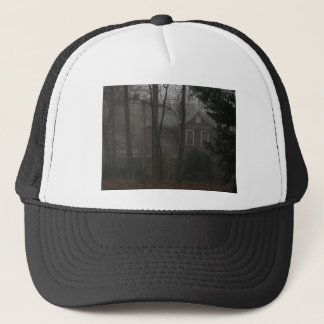 haunted house trucker hat