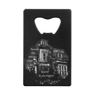 Haunted House Wallet Bottle Opener