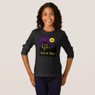 Haunted House-Witch, Cat, Owl T-Shirt