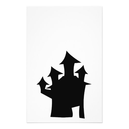 Haunted House with Four Towers. Full Color Flyer