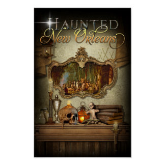 Haunted New Orleans Voodoo Spiritual Altar Poster