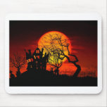HAUNTED NIGHT, HAUNTED HOUSE! (Halloween) ~ Mouse Pad
