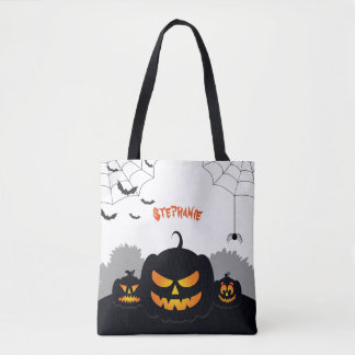Haunted Pumpkin Patch Tote Bag