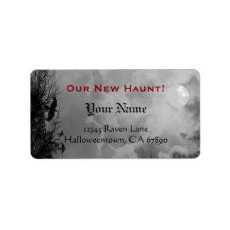 Haunted Raven Sky Black White Custom New Address