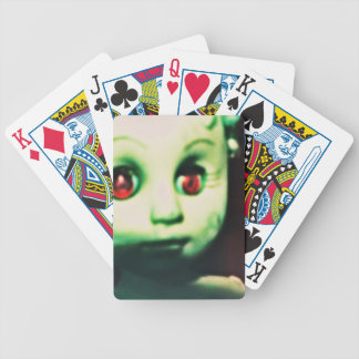 haunted red eyed doll products bicycle playing cards