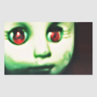 haunted red eyed doll products sticker