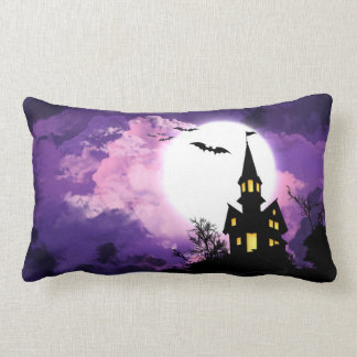 Haunted Scary Night Lumbar Pillow
