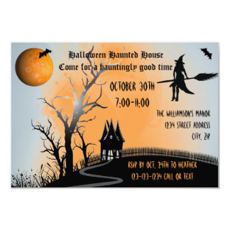 Haunted Scene - 3x5 Haunted House Invite