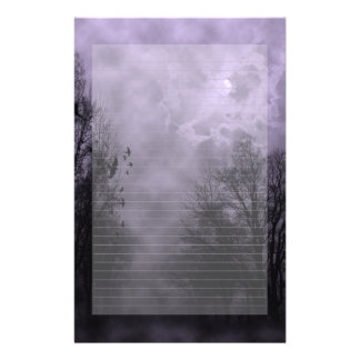 Haunted Sky Purple Mist Note Paper Lined