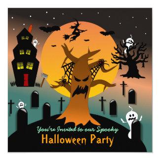 Haunted Tree Halloween Invitation