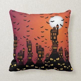 Haunted Village Throw Pillow