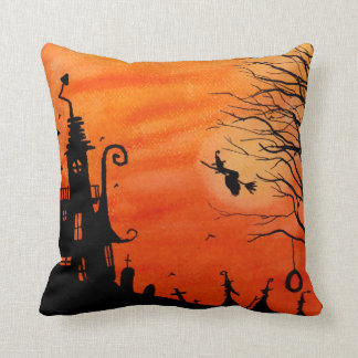 Haunted Witch House Pillow