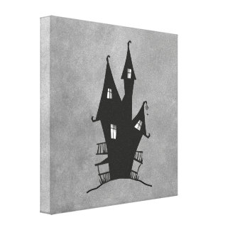 Haunted Witches House Stretched Canvas Print