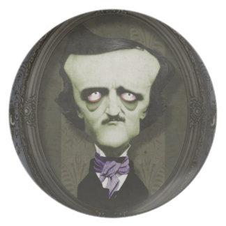 Haunted Zombie Edgar Alan Poe Plate