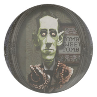 Haunted Zombie HP Lovecraft Plate
