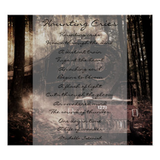 Haunting Cries ~ A Life of Wonder Poem Poster