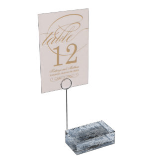 Haunting Dogwood Triple Moon Handfasting Grays Table Card Holder