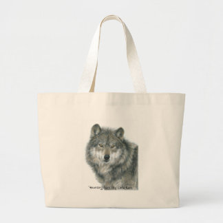"""Haunting Eyes"" wolf art Bag"