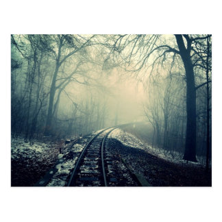 Haunting Train-track Postcard