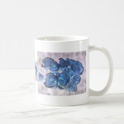Hauntingly beautiful blue tinged roses mug