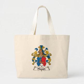 Haupt Family Crest Large Tote Bag