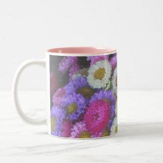 hauptmarkt flowers Two-Tone coffee mug