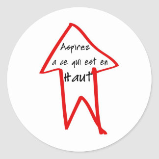 Haut d'en d'est de qui de la CE d'à d'Aspirez Sticker Rond