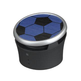 Haut-parleur bleu de ballon de football