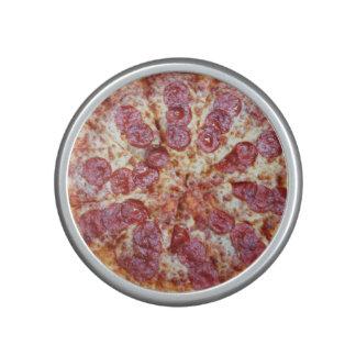 Haut-parleur de bluetooth de pizza de pepperoni