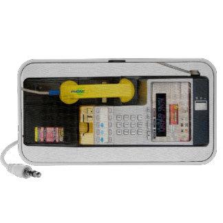 Haut-parleur de griffonnage de cabine téléphonique