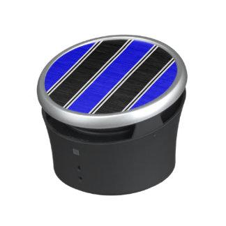 Haut-parleur noir et bleu de Bumpster