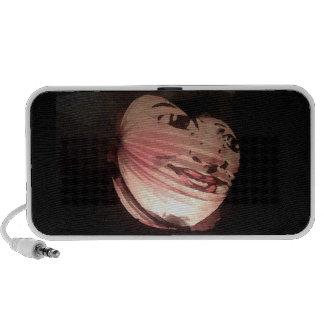 Haut-parleur rose de téléphone de lanterne de nuit