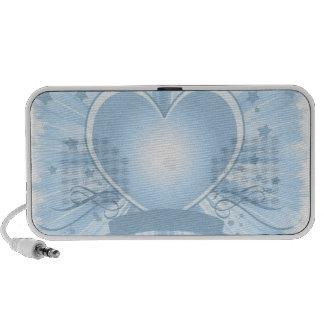Haut-parleurs bleu-clair de Portable de conception