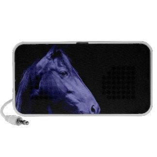 Haut-parleurs bleus de conception de cheval
