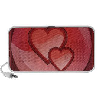 Haut-parleurs de conception de coeur
