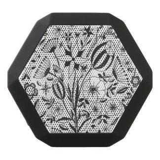 Haut-parleurs Noirs Sans-fils Bouquet floral noir et blanc